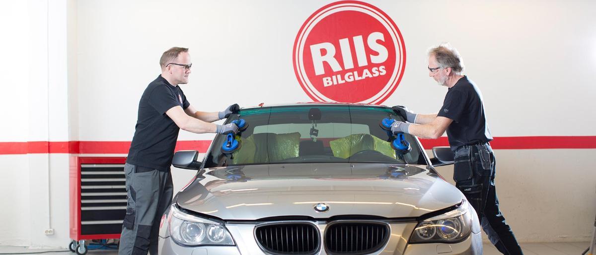 Riis Bilglass - Reparasjon av steinsprut - ring 090 09