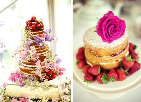 Naked wedding cakes!