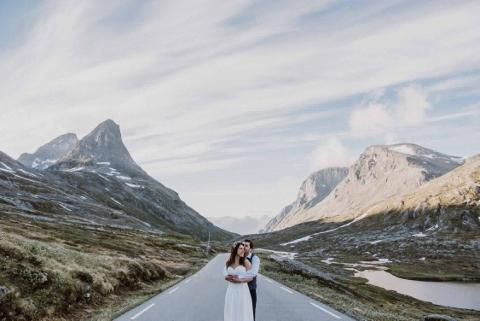 Catia and Luis, Geiranger 5th June 2018