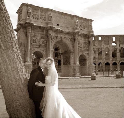 Janita og Andrè, Roma, 09. juni 2006