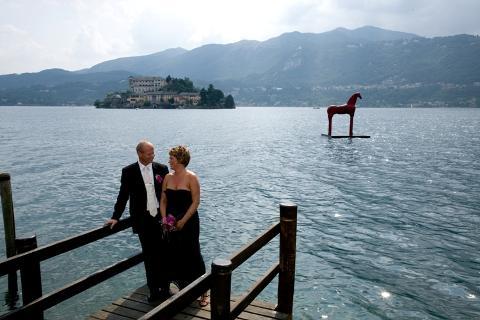 Stine Marie og Sigbjørn, bryllup i Orta, 14. juli 2009
