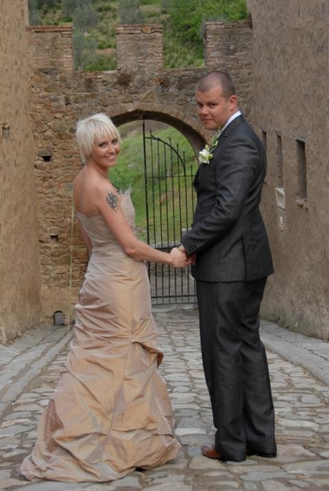 Janne og Henrik, slottsbryllup Toscana, 05. mai 2007
