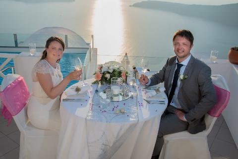 Bente og Jan Robert, Santorini, 28. juni 2015