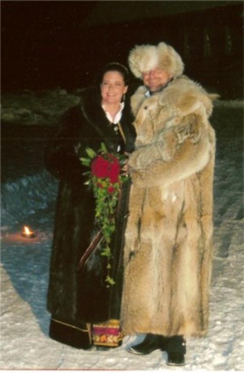 Adria and Øivind Risberg, Finnskogen, 30. desember 2005