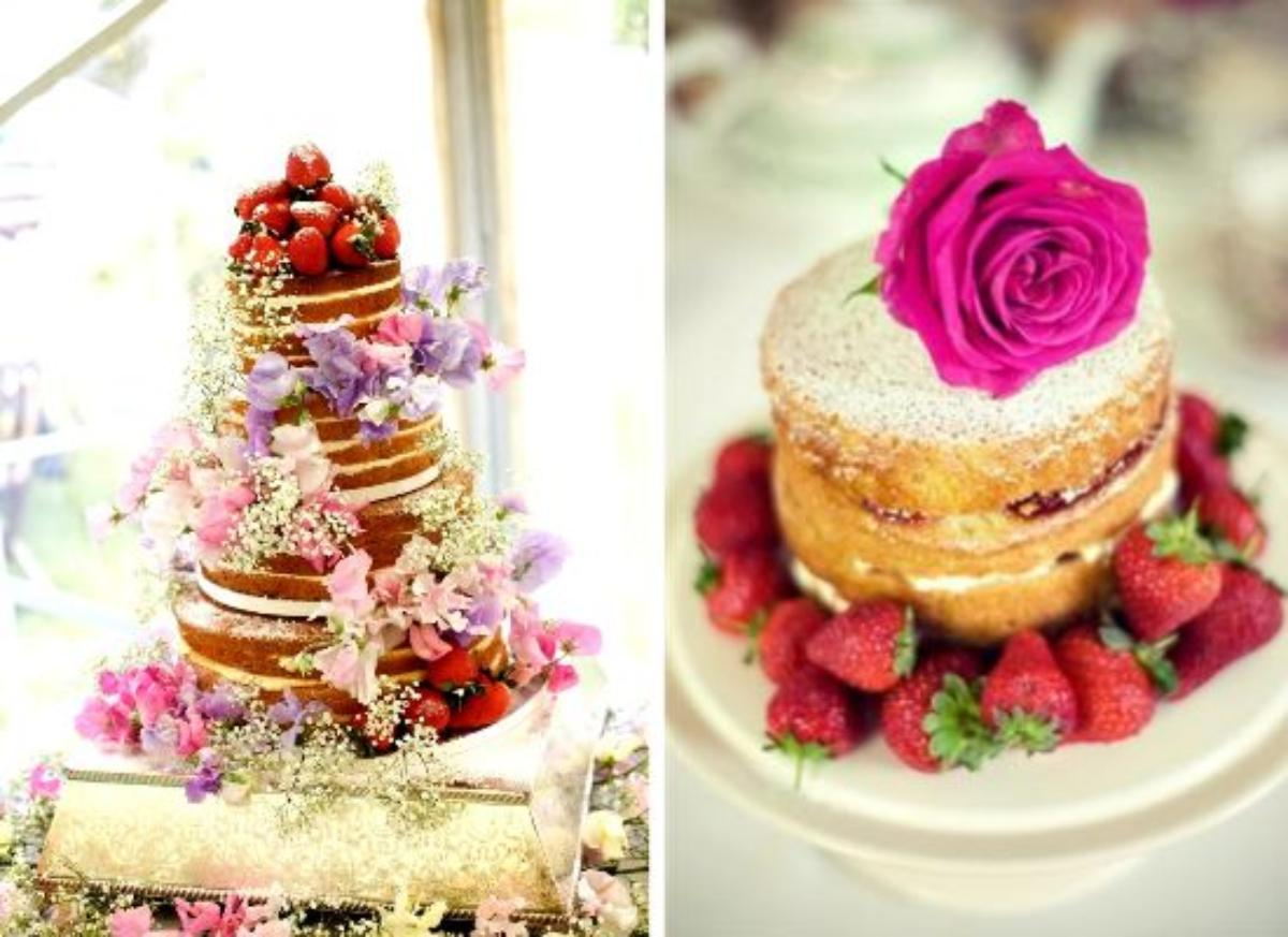 Naked wedding cakes!