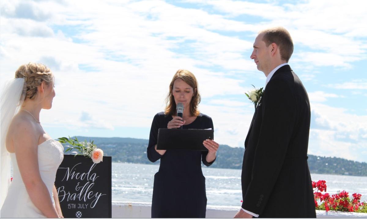 Nicola and Bradley, Wedding in Oslo, 15 July 2016