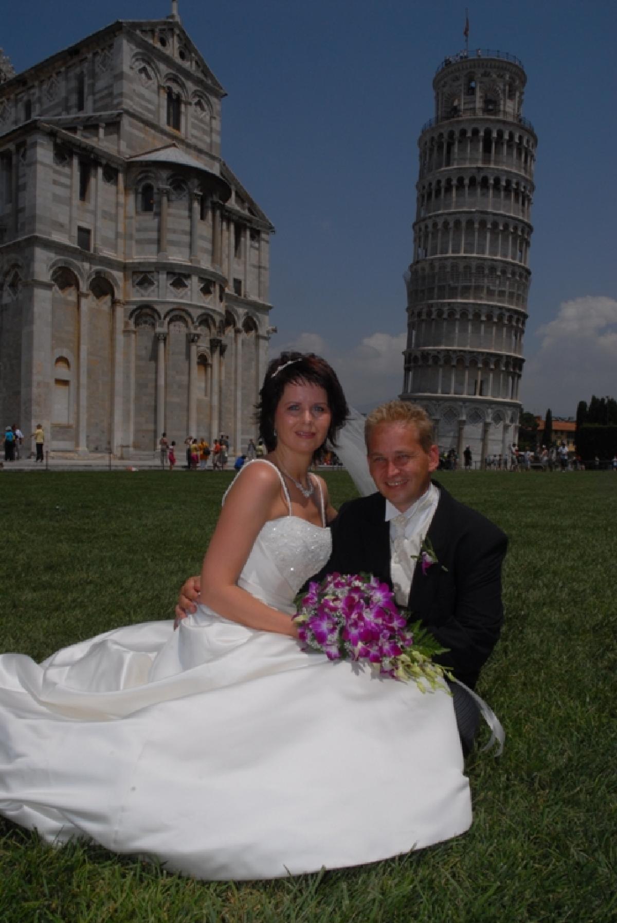 Hilde og Egil, Pisa, 25. juni 2007