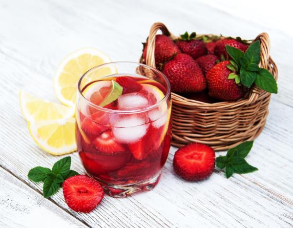 Jordbær saft