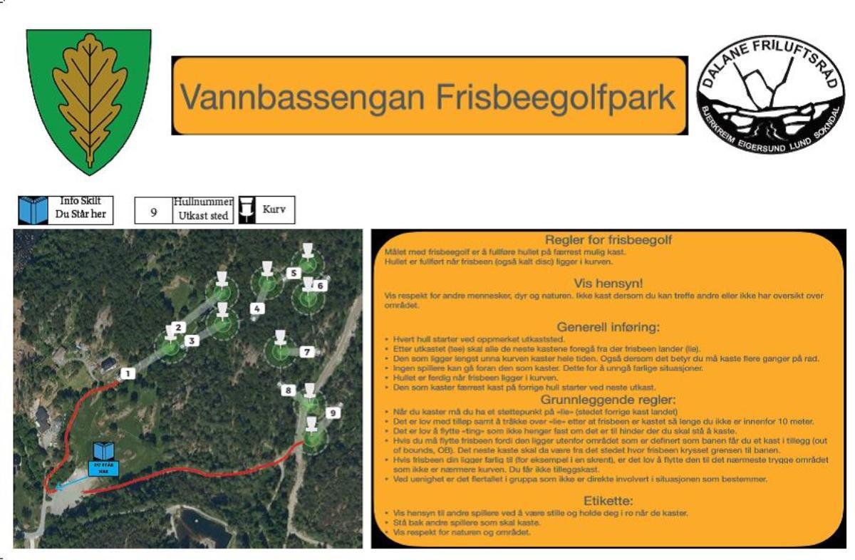 Vannbassengan Frisbeegolfpark - headerbilde