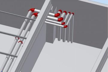 illustrasjon av røranlegg