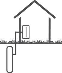 illustrasjon av væske-til-vann-varmepumpe