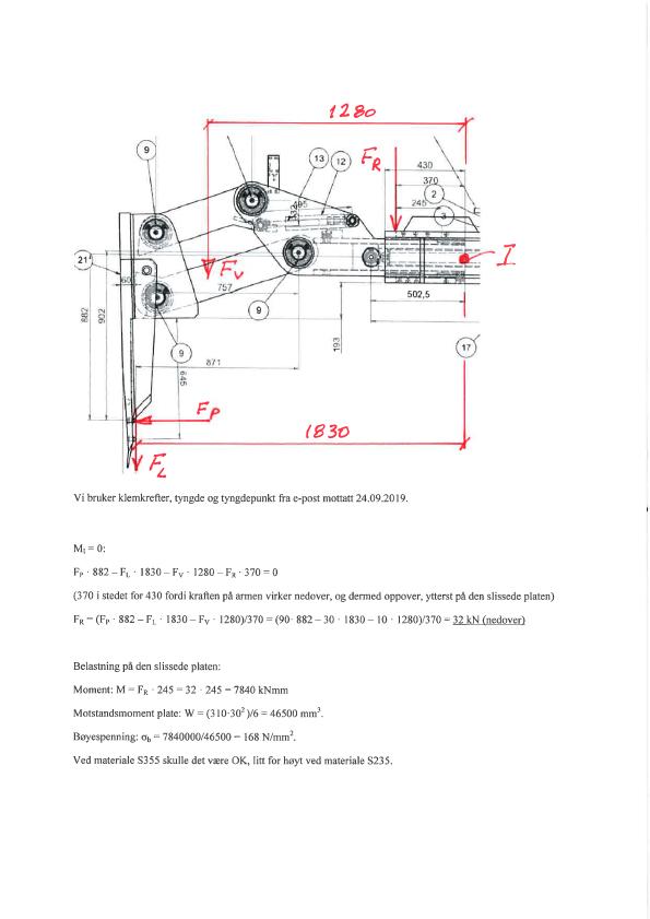 Verifikasjon av anodeklype for Hydro Aluminium. Dokument.