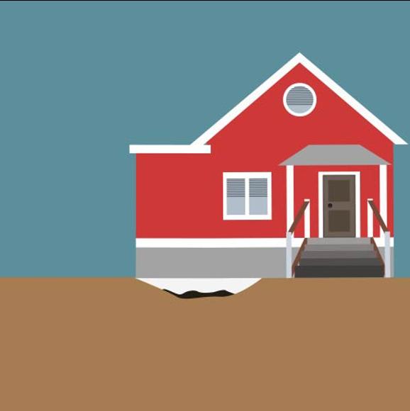 Hardskum i fundament under hus