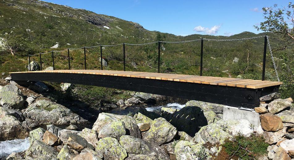 Enkel gangbro til naturområde