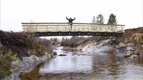 Snøscooterbru på Singsås