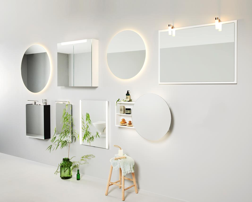 Utstilling av speil fra INR