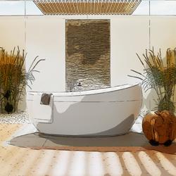 Bilde av frittstående badekar