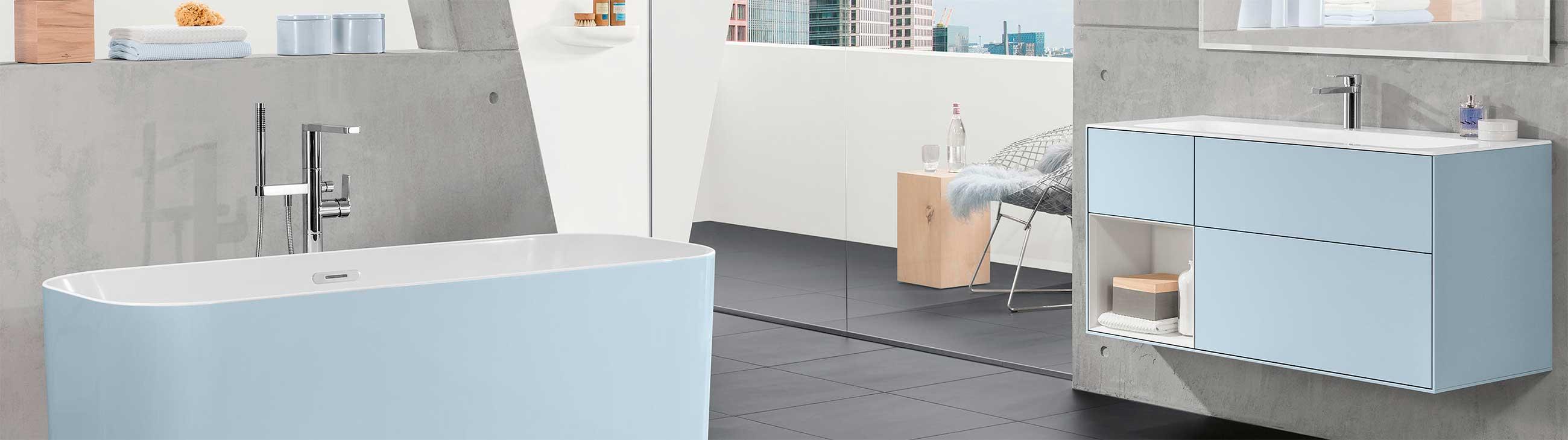 Moderne baderomsmøbler med praktiske løsninger
