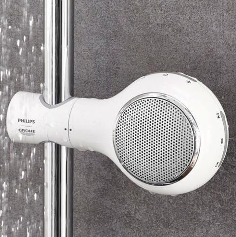 Bilde av bluetoth høyttaler til dusjen