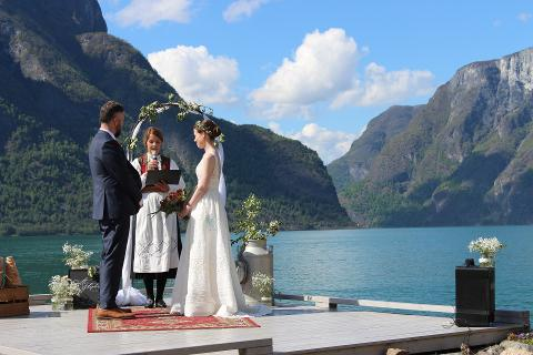 Wedding by the fjords of Norway