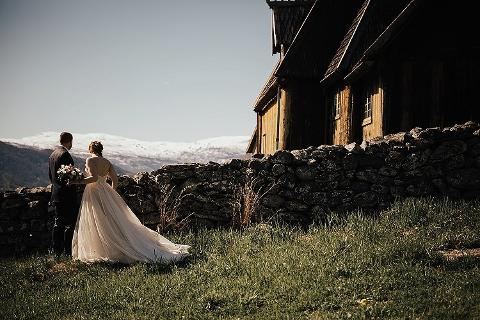 Stave church wedding